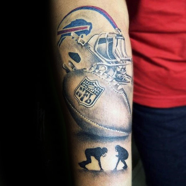 70 Fussball Tattoo Fur Manner Nfl Ink Design Ideen