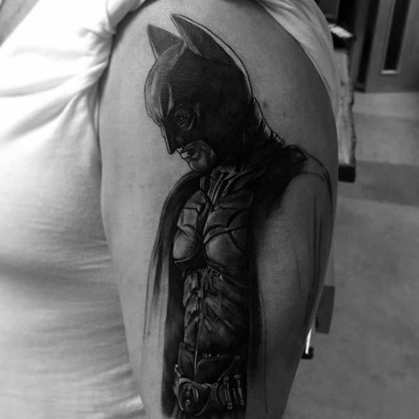 Lengan Atas Awesome Mens Batman Tattoos