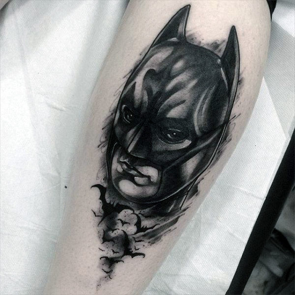 Air Batman Mens Leg Batman Tattoos