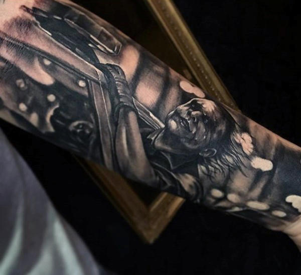 Batman Lengan Tatu Mens