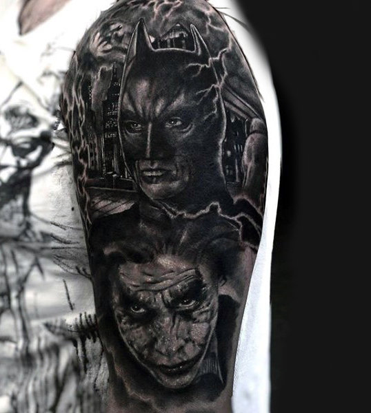 Lelaki Batman Dark Knight Tattoos
