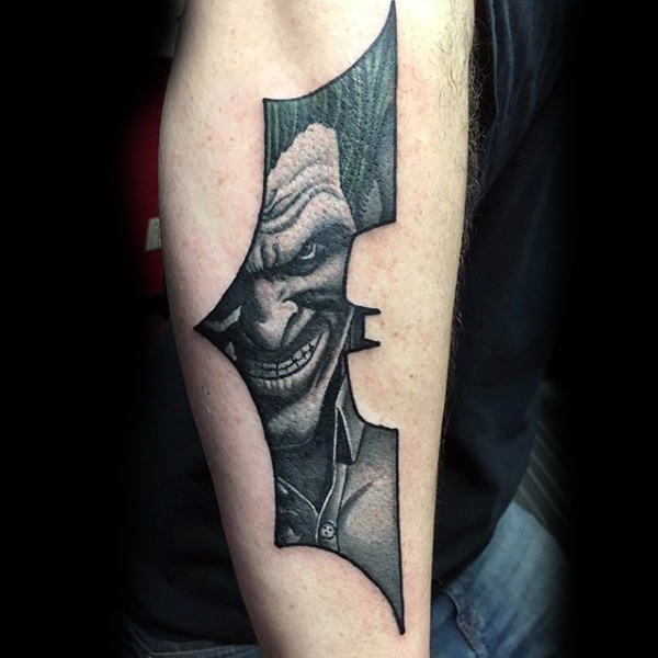 Joker Batman Mens Tattoo