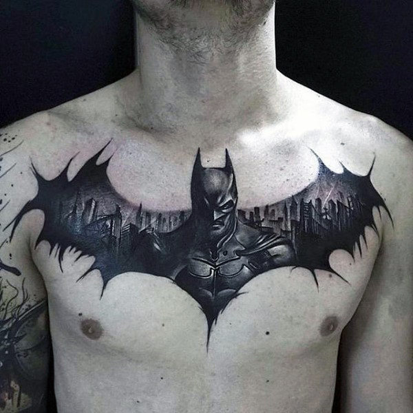Batman Guys Tattoo Dada Black Ink Design