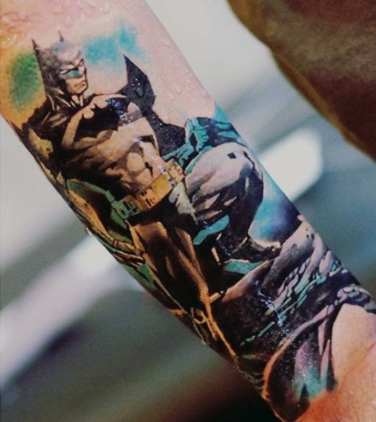 Mens Wrist Cool Batman Ideas Tatu