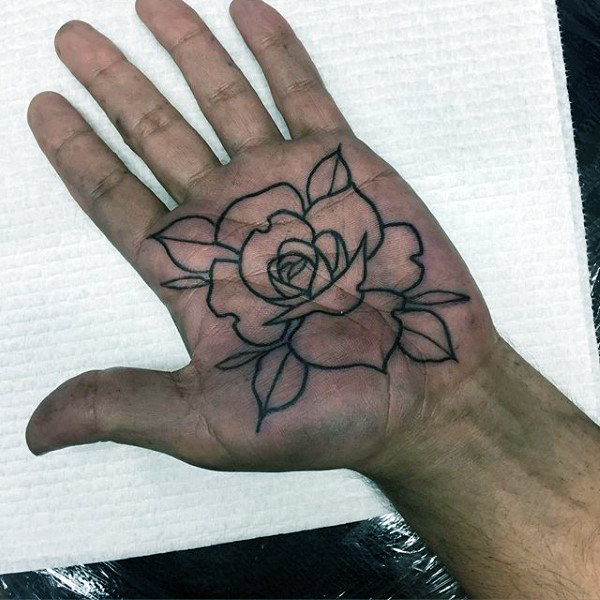 Lovely Rose Tattoo Palms ชาย