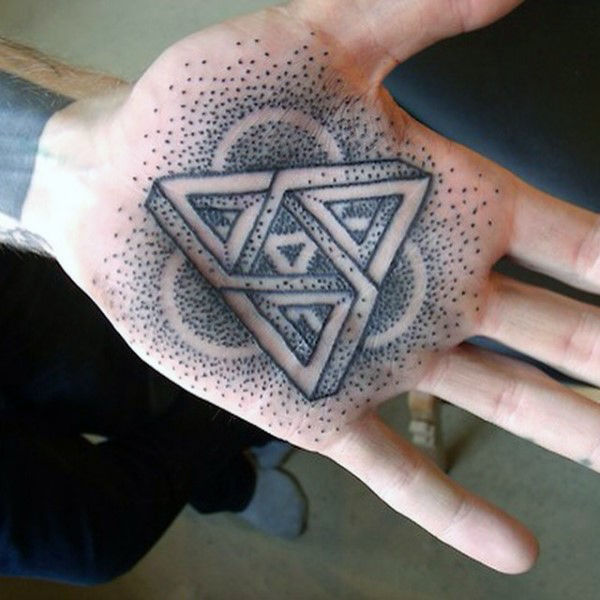 Mens Palm Dotted Grey ออกแบบ 3D Tatto