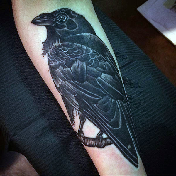 Lovely Dark Raven Tattoo Herre Underarm