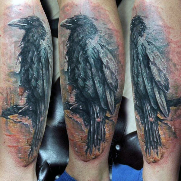 Mann Nedre Ben Greay Raven Tattoo