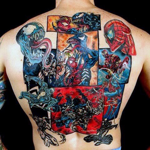 Majestic Spiderman Tattoo ชายกลับ