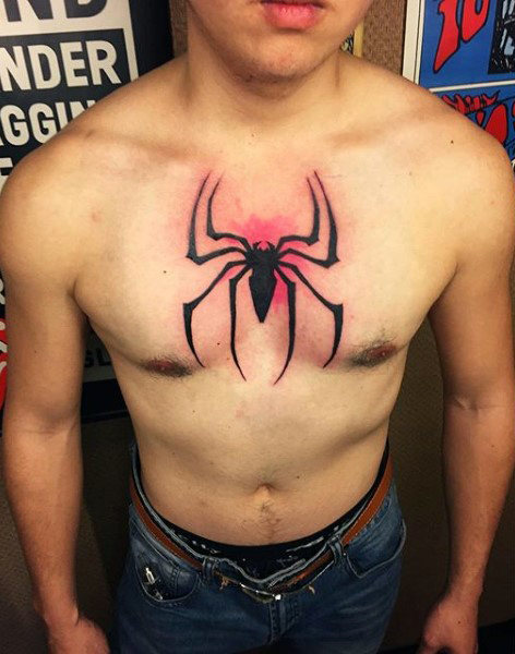 ชาย Tattoo Spider Tattoo
