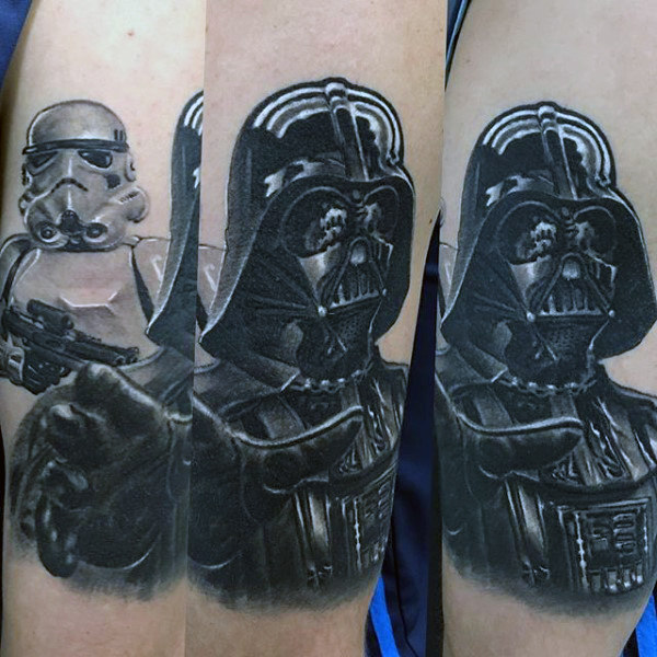 Darth Vader Com Stormtrooper Mens Tattoo Ideas