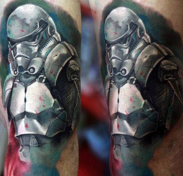 Aquarela Mens Stormtrooper Arm Tattoo Designs