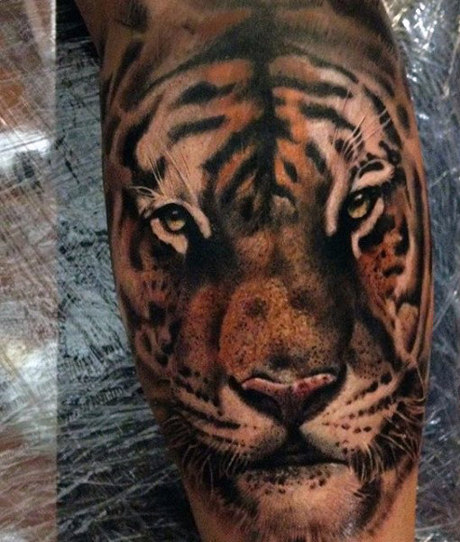 男性's Tribal Tiger Tattoos