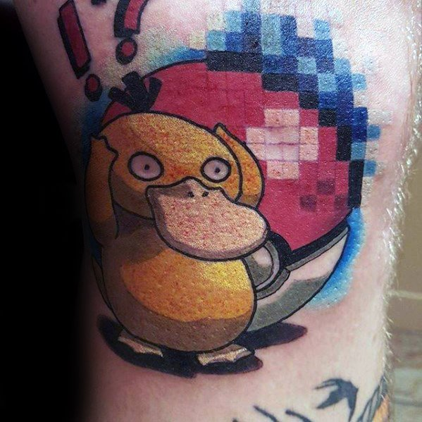 Mens Cool Psyduck Tattoo Ideas