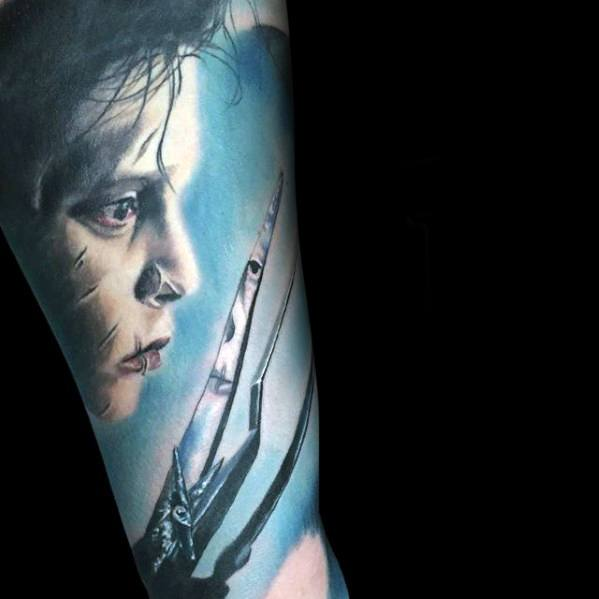 Antebraço Luva Edward Scissorhands Mens Tattoo Ideas