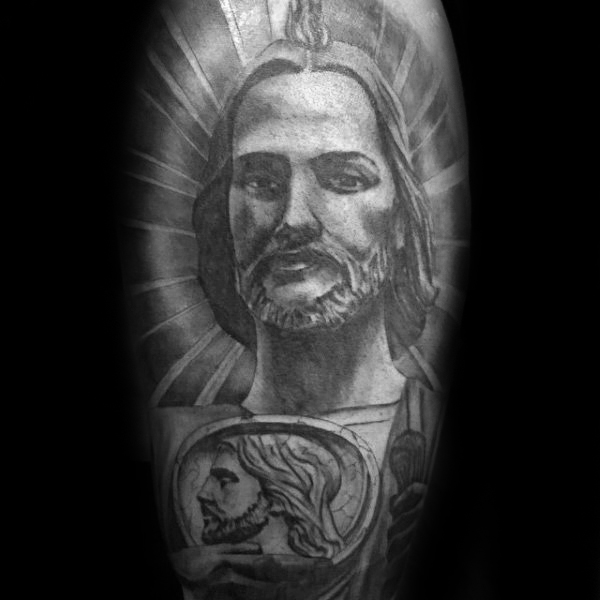 Saint Jude Guys Leg Tattoo Ideias