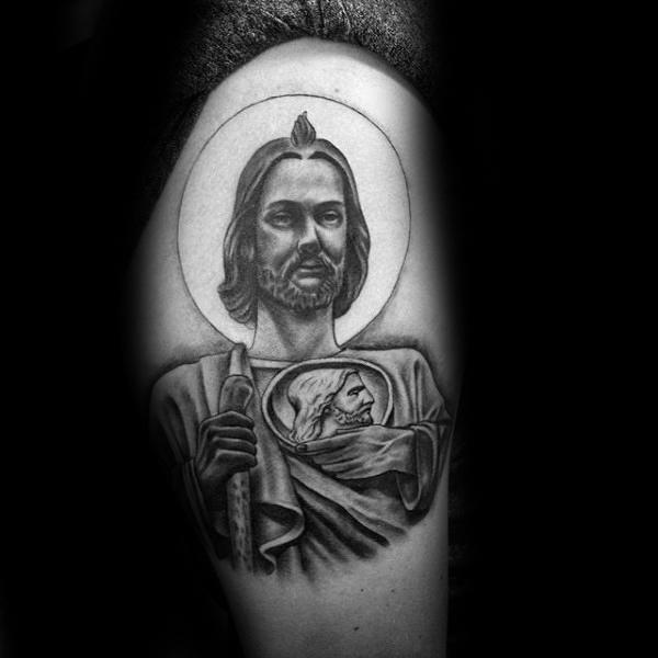 Coxa Masculino St Jude Tattoo Design Ideas