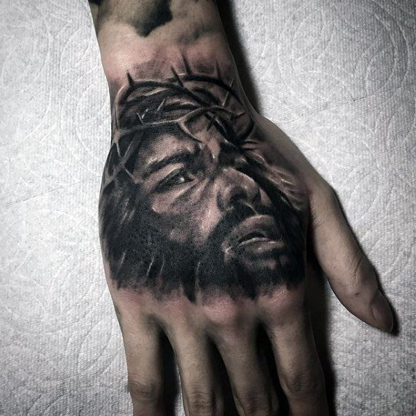 Jesus Portrait Unique Tattoo Idee per i maschi