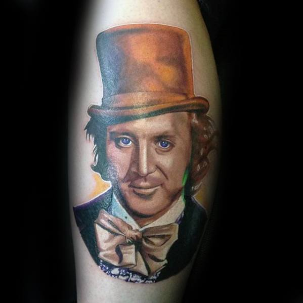 Verbazingwekkende Mens Willy Wonka Tattoo Designs