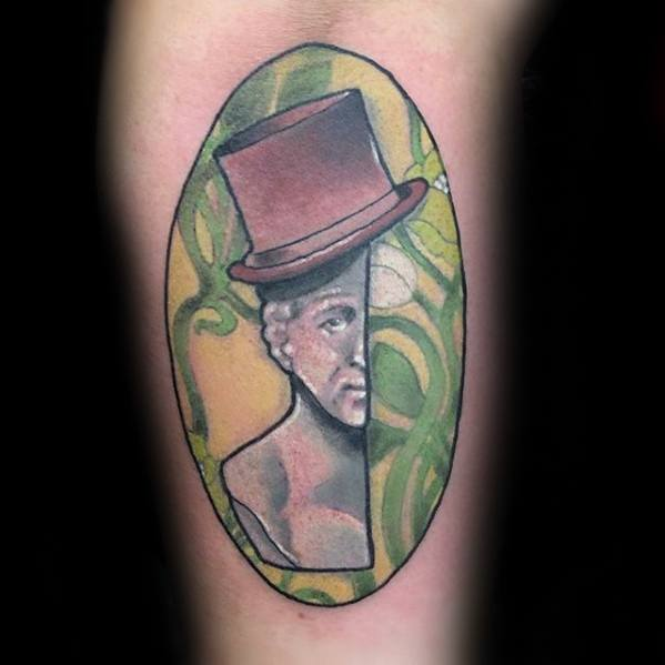 Guy With Willy Wonka Tattoo Design