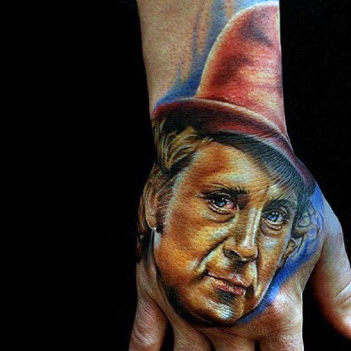 Manly Willy Wonka Tattoo Design Ideas voor mannen