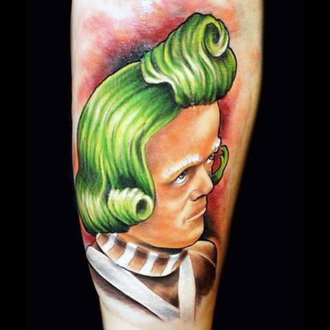Unieke heren Willy Wonka-tatoeages