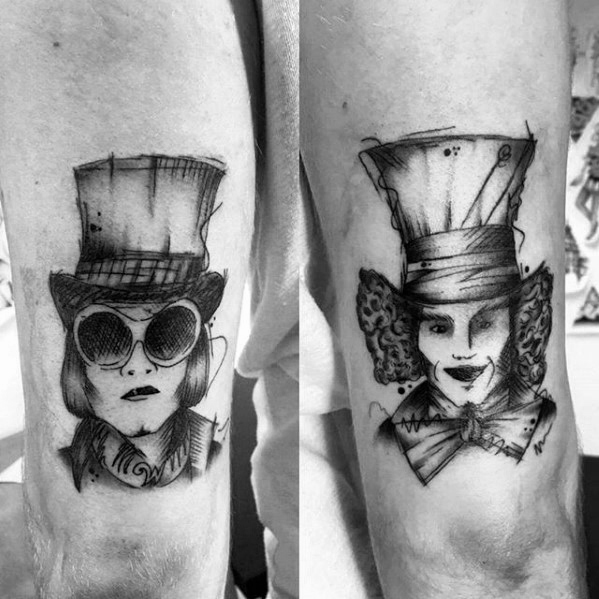 Willy Wonka jongens tatoeages