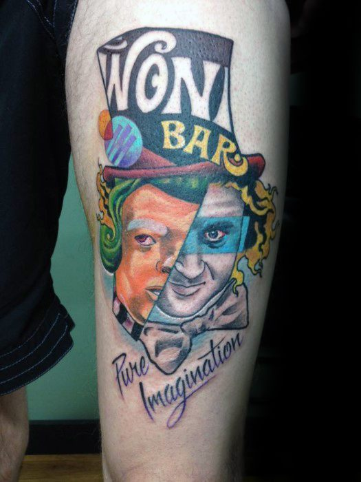 Cool Willy Wonka Tattoo Design Ideas voor mannen