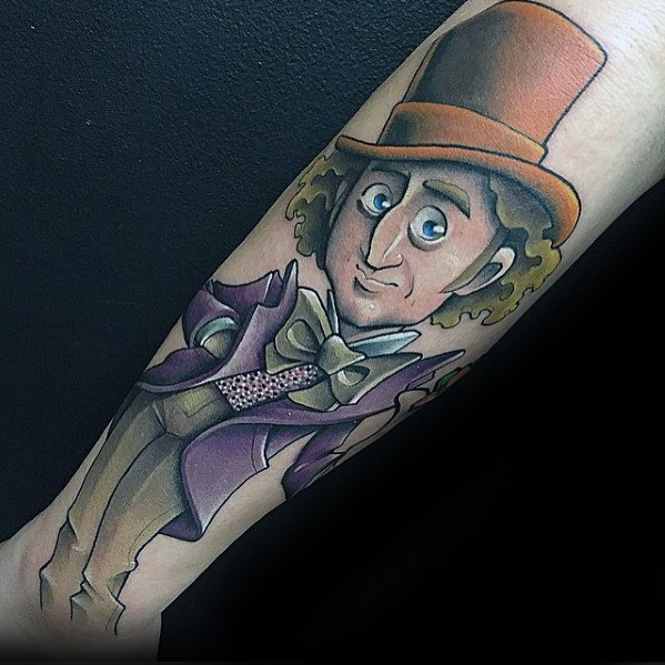 Heer met Willy Wonka Tattoo