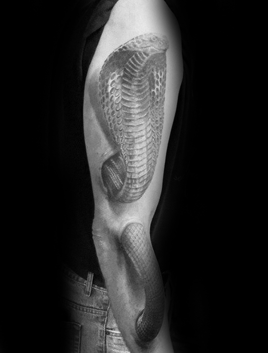 Full Arm 3d Snake Mens Design Design Tatu