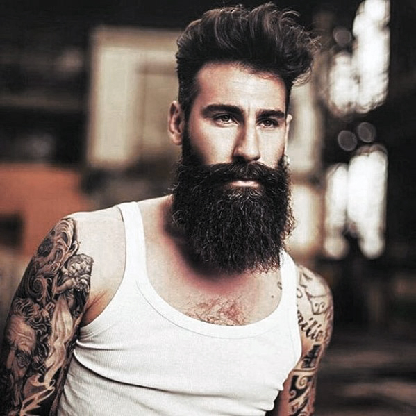 Manly Mens Big Barba Idéias Estilo