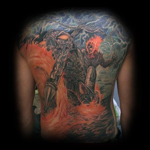 Ghost Rider Jungs Tattoos