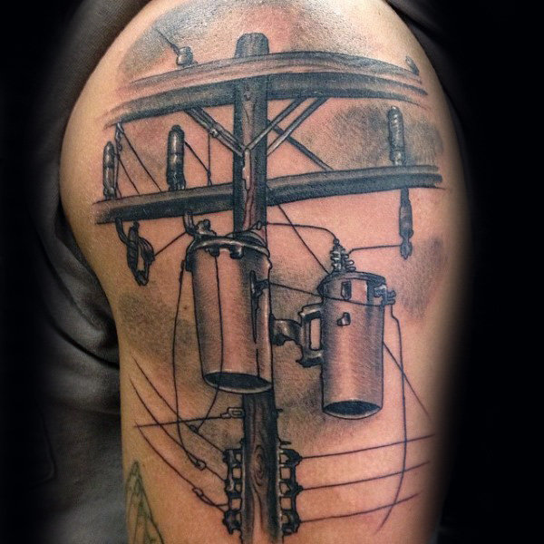Power Line cu Transformatoare Mens Lineman Arm Tattoo Ideas
