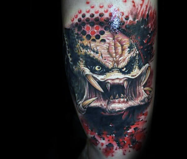 Abstract Predator Arm Tattoo Design Ideer for menn