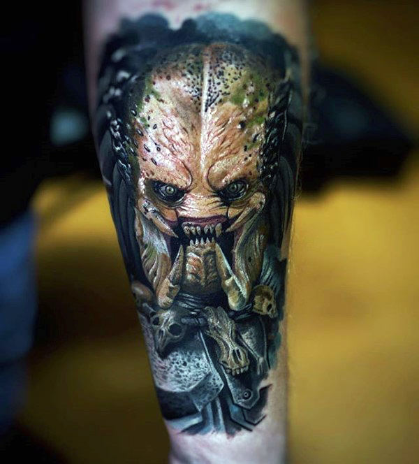 Incredible Mens Innerforar Predator Tatoveringer