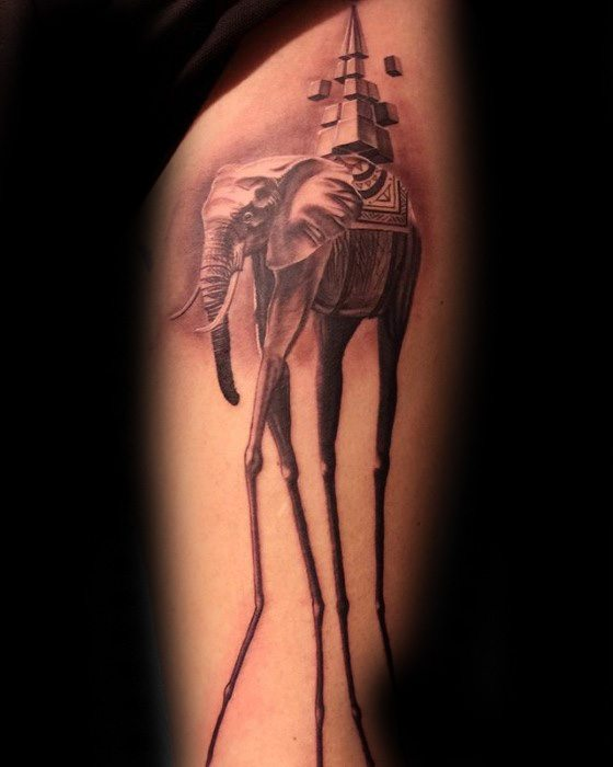 Idea Tatu Gajah Salvador Dali Mens