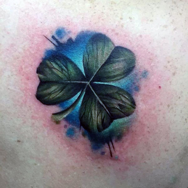 Realistyczne akwarele Guys Shamrock Tattoo Ideas