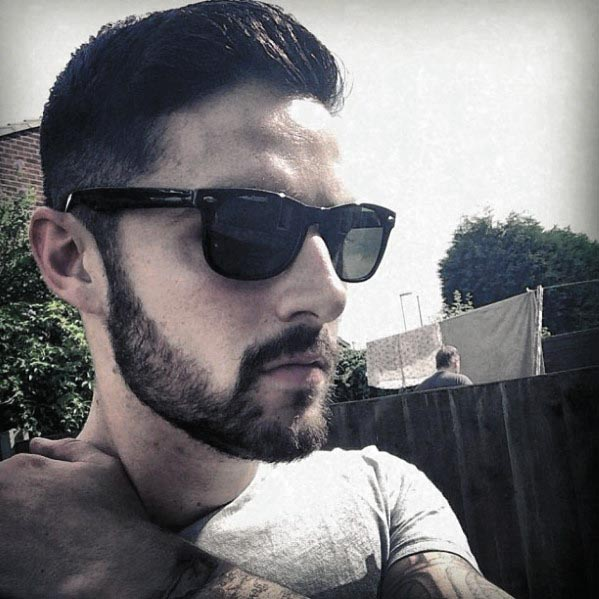Cool Male Short Hair With Beard Styles