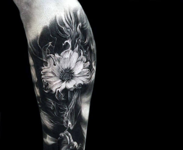 Flower Smoking Tattoo voor mannen