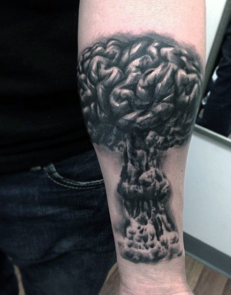 Smoke And Skull Tattoos For Men
