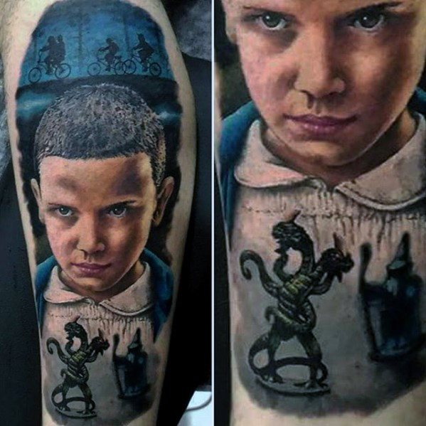 Mens Cool Stranger Ting Tattoo Ideas