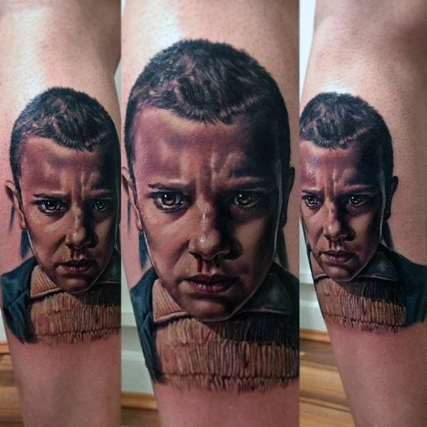 Distinctive Male Stranger Things Tattoo Designs