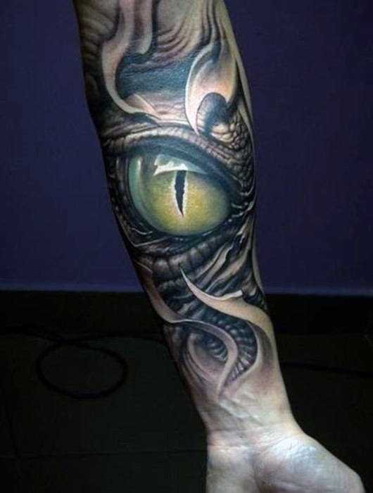 Männer Splendid Zelená Eyed Alligator Tattoo auf den Armen
