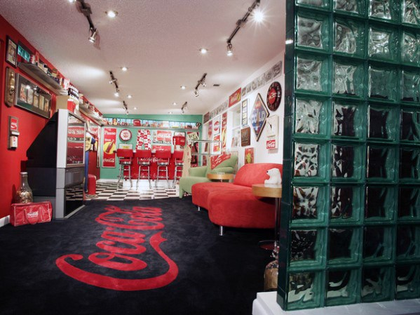 Coca Cola Themed Cool Man Cave Ideas
