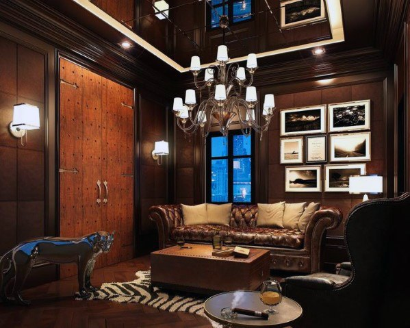 Luxury Lounge Cool Man Cave Ideer for herrer