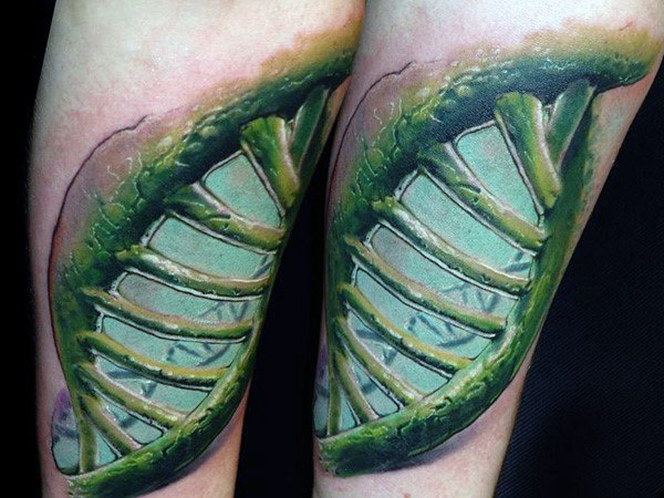 Green Cell Dna Mens Tattoos On Wrist
