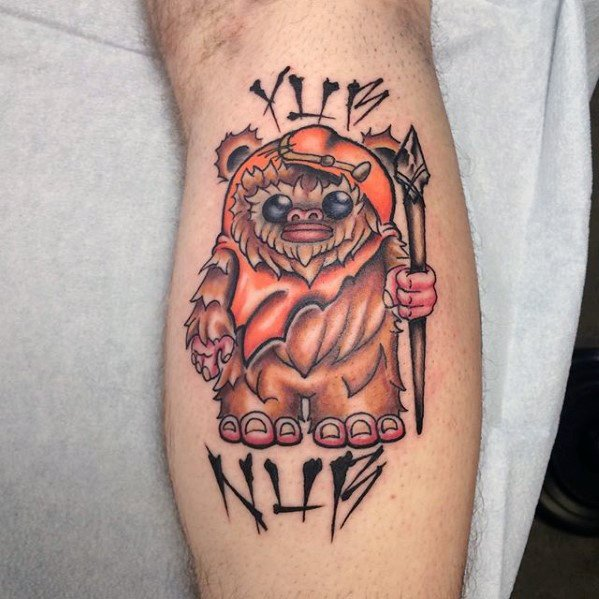 Verbazingwekkende Mens Ewok Tattoo Designs