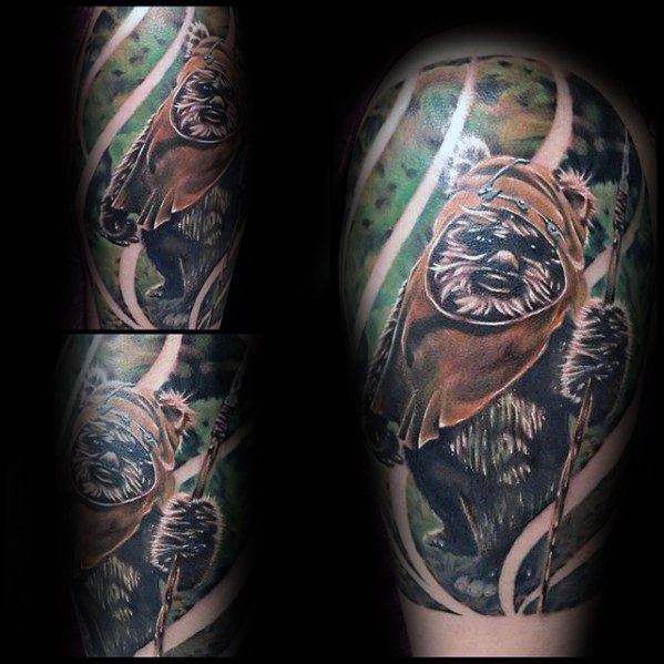 Ewok Tattoo Design Ideas voor mannen