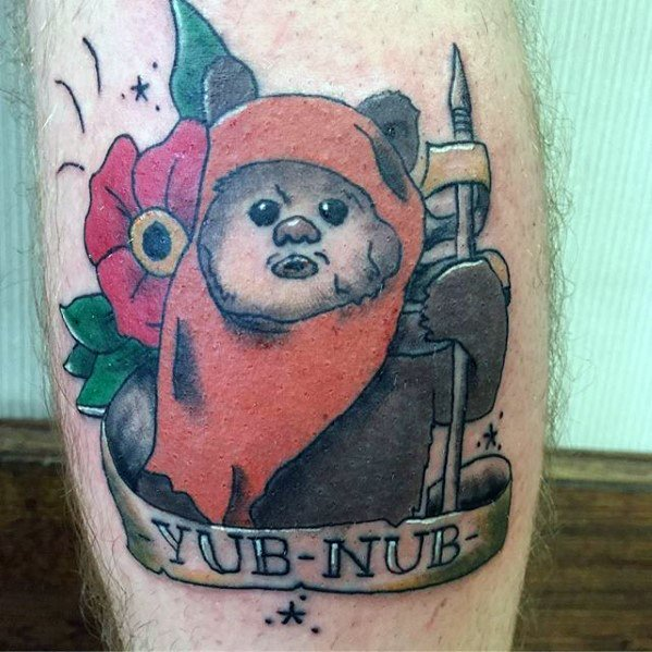 Jongens Ewok Tattoo Designs