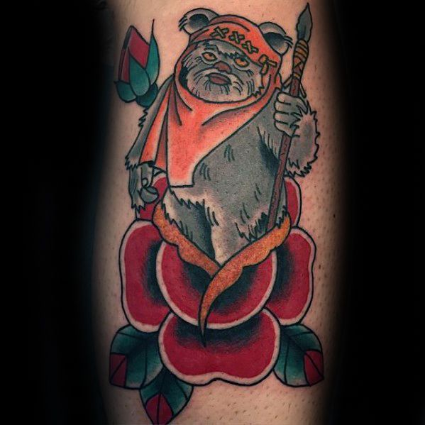Jongens Ewok Tattoos